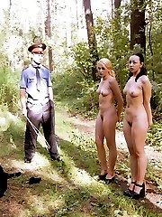 Outdoor chastisement of 2 Russian jezebels