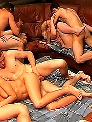 Swinger orgy in private club under control of spy cams