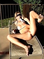 Horny Tropicana toying her ass