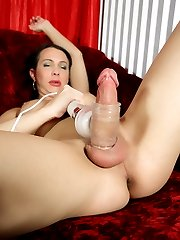 Danika milking her huge dick