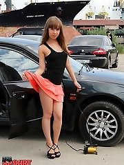 Awesome sheer tights up skirts