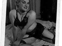 Vintage babes adore exposing their nude baps