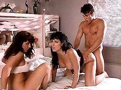 Jeanna Fine, Tiara, T.T. Boy in breathtaking threesome from vintage porn