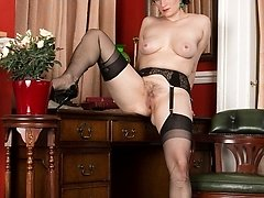 Brianna enjoys to exhibit her wanton side, notably in garters and sheer dark-hued ff nylons!