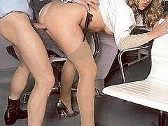Boss tearing up his secretary