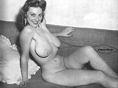 Naked ladies behave shamelessly exposing bodies
