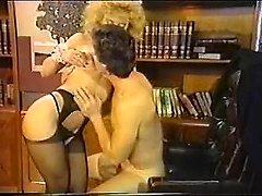 Dana Lynn, Nina Hartley, Ray Victory in vintage porn scene