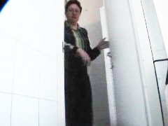 Three girls watering the spy cam planted in univercity loo