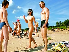 Being naked and hot gets a teen nudist attention