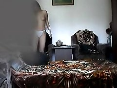 Voyeur movies of a lovely undressing chick