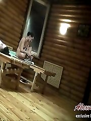 Teen naked voyeur babes wash their fresh bodies and sit in sauna getting taped during it