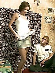 Girls undress for naughty guys