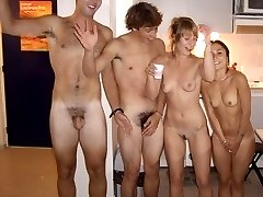 Real naked people in real clothed world