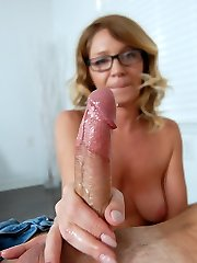 Finer Cum Quick - MILF and Mature Hj Videos Over 40 Handjobs