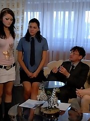Double Dose Caning for these 2 Russian Brats