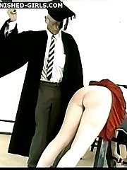 Professors caning and punishment for 2 cute schoolgirls