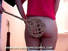 Various implements for beating this peculiarly mischievous teen - red glowing buttocks