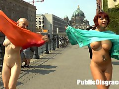 Hot Busty MILF Jolyne Joy and Made Kate are two of Berlins freakiest and they have no idea what...