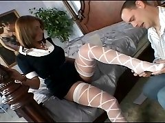 Wife puts on her thigh highs