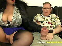 Anatasia Lux - thick thighs in skirt screws old guy