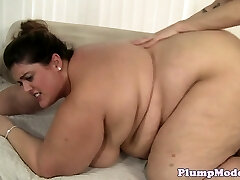 SSBBW babe with bigtits bentover and screwed