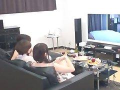 Incredibile Giapponese puttana Risa Arisawa, Nao Mizuki, Mika Mizuno nella Cornea Tette Piccole, Cunnilingus JAV clip