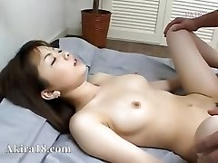 Japanese guy licking super wooly pussy
