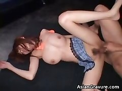 Breasted real chinese red head getting her part6
