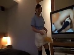 Asian Hotel Maid Getting Pummeled