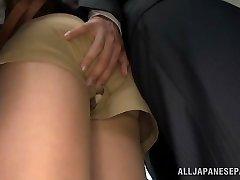 Akiho Yoshizawa getting romped at the office