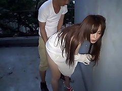 Best Japanese hoe Megu Hazuki in Exotic rear end style, outdoor JAV movie