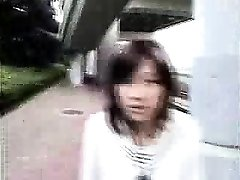 Bottomless Asian nurse sixtynine oral in public