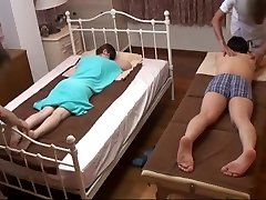 Husband Witnesses Japanese Wifey Get a Naughty Massage - 2