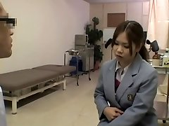 Naughty hot medical exam for a smoking red-hot Japanese gal