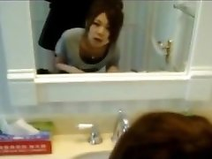Korean Teenage GF Quickie in Bathroom!