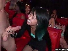 Youthfull Asian Woman deepthroats Stripper