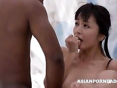 Japanese tear up by two black dicks - ASIANPORNDADD