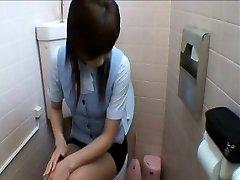 Dames De Bureau D'Entrer Dans Les Toilettes De La Masturbation