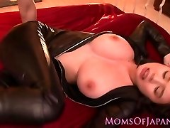 Throated asian milf cooter pounded