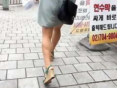 Upskirt Stairs: Steaming Asian With Large Boobs