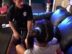 Teen babysitter lily startled till  the police arrived