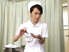 Nurses strain trouser snake that is black