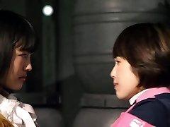 Mika Kikuchi and Mayu Kawamoto Girl-girl Kiss