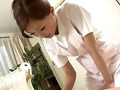 Sexy Nurse jerks her patient's beef whistle as a therapy