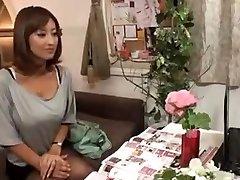 Kåt Japanska Fru Masseras och sedan Knullade