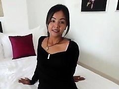 Smallish Thai girl barebacked by monger