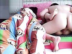 Chinese husband hotwife on wifey while she is sleeping.