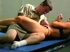 combined grappling fbb Christine Fetzer bodybuilder scissors part 2