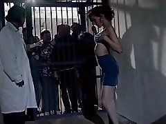 elder prisonners watch beauty girl