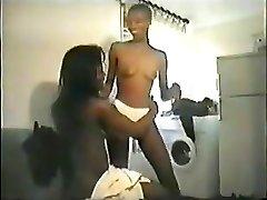 Ebony housewife.